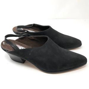 GUESS nubuck suede cowboy boot mules